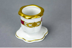 Antique Herend Hungary Porcelain 2 Toothpick Holder And Scalloped Tray