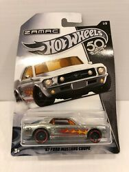 Hot Wheels 50th Anniversary 67 Ford Mustang Coupe / Zamac / 2017