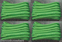 4 Green Double Braided 3/8 X 15' Ft Boat Marine Hq Dock Lines Mooring Ropes