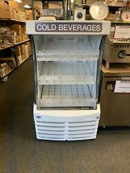 Beverage Air Bz13-1-w 30andrdquo White Open Air Refrigerated Display Case Grab And Go
