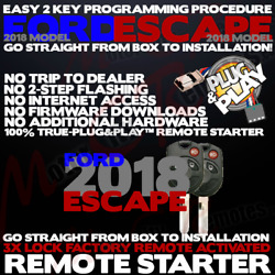 2018 Ford Escape True Plug And Play Remote Starter System