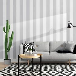 Hot Selling Wallpaper White And Gray Stripe Style Wallpapers Home Decor Wall Paper
