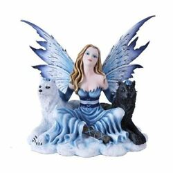 Winter Princess With Wolves Statue Snow Fairyland Legends Collection