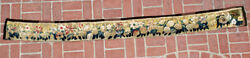 A 100 Inches Long Antique Tapestry Border With Flowers