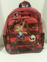Disney Store JAKE amp; THE NEVERLANDS School Backpack book bag Lunch Tote New w Tag $24.95