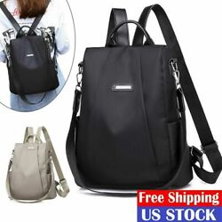 Women Lady Backpack Purse Anti Theft Rucksack Waterproof Oxford Cloth School Bag $12.34