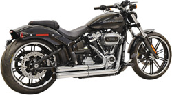 Bassani Xhaust Pro Street Turn Out Exhaust System Chrome 1s34d