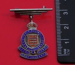 Old Royal Army Ordnance Corps Sweetheart Pin Badge Sterling Marking On Top