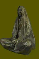 Bronze Sculpture Statue Signed English Artist Thomas Indian Chief Hot Cast Gift