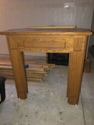 Gas Ventless Fireplace Insert Surround Solid Wood