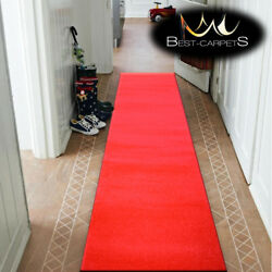 Modern Thick Hall Runner SKETCH red - church - wedding - extra long Stairs