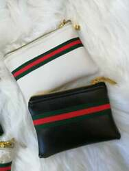 Handmade designer inspired coin purse bag pouch red green stripe Gucci striped $20.26