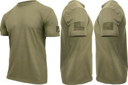 Mens Tactical Athletic Muscle T-Shirt with US Flag & Loop Field $14.99