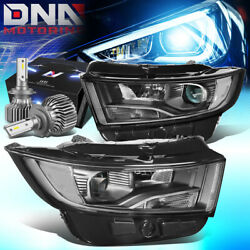 For 2015-2018 Ford Edge Oe Replacement Headlight Lamps W/led Slim Style Black