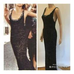 Gianni Versace Sexy Embellished Open Back Gown Size It 42 Fw/1999