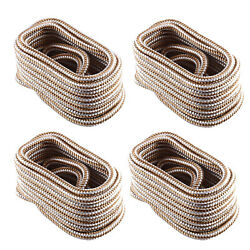 4 Pack 1/2 Inch 15 Ft Double Braid Nylon Dock Line Mooring Rope Boat Anchor Line