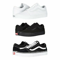 Vans Old Skool Skateboard Classic Black White Mens Womens Sneakers Tennis Shoes