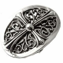 Authentic [chrome Hearts] Oval Belt Buckle Small 1 X 2