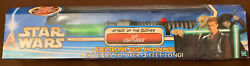 Star Wars Aotc Electronic Lightsaber Jedi Green Attack Of The Clones New Sealed