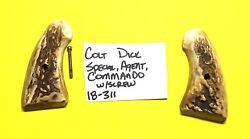 Colt Detective Stag Horn Grips Vintage With The Screw Item 18-311