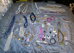 Vintage To Now Jewelry Lot 103 Pcs Sarah Coventry Emmons Monet Sf Germany Etc
