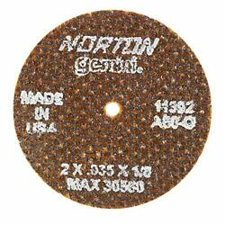 2 Abrasive Cut-off Wheel, .035 Thickness, 1/8 Arbor Hole 66243411392