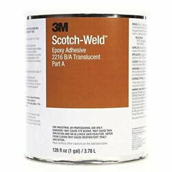 3m Scotch-weld 2216 Part B/a Epoxy Adhesive Kit, 1 Gallon Container, Translucent