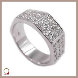 Ring Band White Gold 18 Carat with Diamonds Women's Faith Engagement