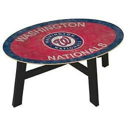 Mlb Coffee Table 46 With Glass Top Team Color New Select Your Team