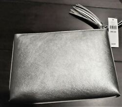 Banana Republic Silver Clutch $15.99