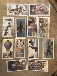 Lot Of 12 Trade Cards Famous Firsts Space Flight Explorer First Man On The Moon