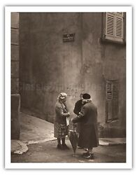 Gossiping - Bezannes France - Alan Houghton 1964 Vintage Photograph Art Print