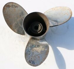 15.25 X 19 Mercury Mirage 19p Stainless Steel 3 Blade Lh Propeller 48-13701 N18