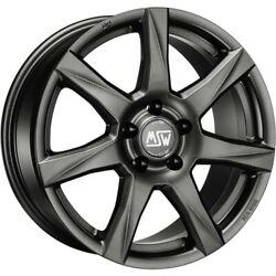 Msw Alloy Wheels Smart Fortwo Forfour 453 16 Inch Grey By Oz Msw 77 Dark Grey