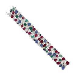 Motherand039s Day Gift Ruby Emerald Sapphire Diamond Gold 925 Sterling Silver Jewelry