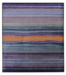New Purple Blue Modern 8and039x10and039 Ft Hand Knotted Antique Old Style Silk And Area Rugs
