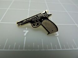Smith And Wesson Pistol Lapel / Hat Push Pin Lapel Pin Brand New