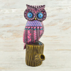 Owl Alebrije Masterpiece Oaxacan Wood Carving A1963 | Magia Mexica