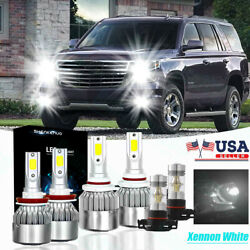 Bright Combo Led Headlight Bulb High Low Beam+fog Lights For Chevy Tahoe 2015-19