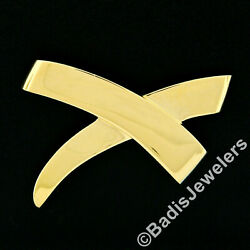 Estate Vintage And Co. Paloma Picasso 18k Yellow Gold Large X Pin Brooch
