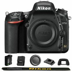 Nikon D750 Dslr Camera Body With Wifi Free Sdhc 16gb + Cleaning Kit Airmail