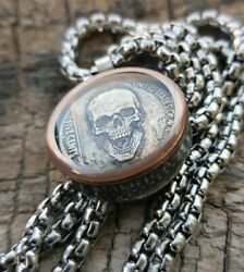 Hobo Nickel Necklace with 26quot; Stainless Steel Chain $19.90