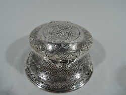 Inkwell - 9525 - Antique Aesthetic Inkpot - American Sterling Silver