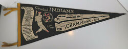 1954 Cleveland Indians Lopez Limited Scroll Pennant Schroll Mlb Baseball Champs