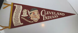 1949 Cleveland Indians Lou Boudreau Team Scroll Red / Maroon Pennant Schroll