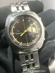 Longines Nonius Gents Vintage Watch 1969 Very Rare 8225-1 Cal 538 Fly Back