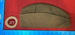 Vintage Ww1 Overseas Hat Theatre Made 37th Division Patch 103c
