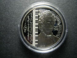 2008 Mongolia 500 Tugrik Musician Composer Frederic Chopin Proof