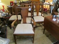 Antique Centennial Set Of 6 Country Chippendale Dinning Chairs
