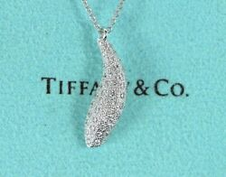 5k And Co Frank Gehry Pave Diamond 18k White Gold Fish Pendant Necklace